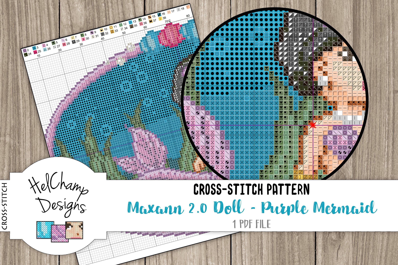 Cross-stitch pattern - Purple Mermaid Maxann 2.0 - CS001 example image 3