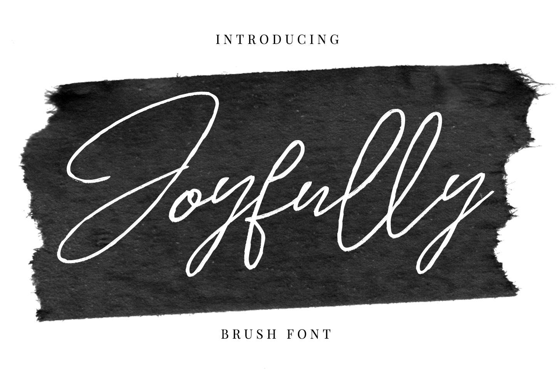 Joyfully - Brush font example image 1