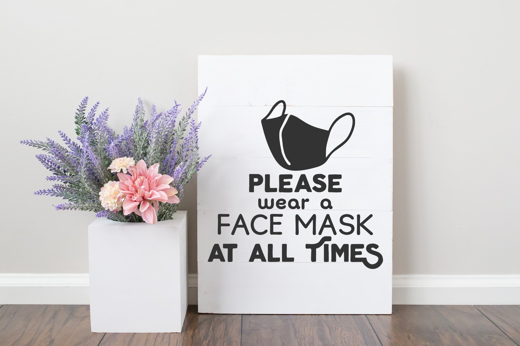 Face Mask SVG | Quarantine Sign SVG example image 2