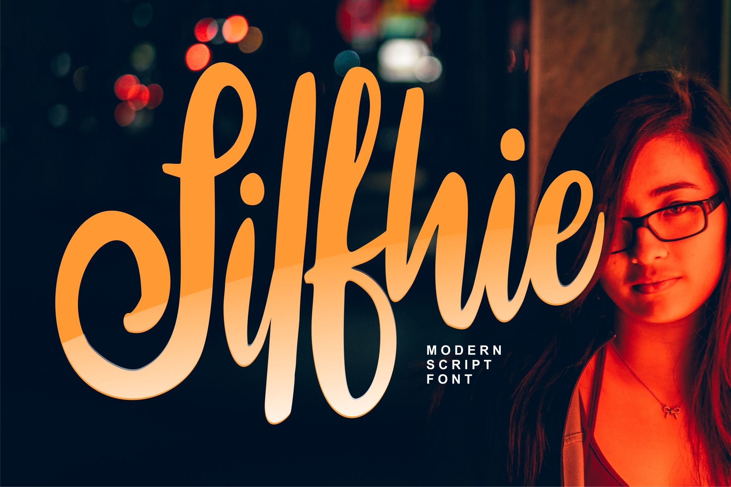 Silfhie | Modern Script Font example image 1