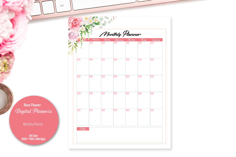 Rose Flower Digital Planner example image 4