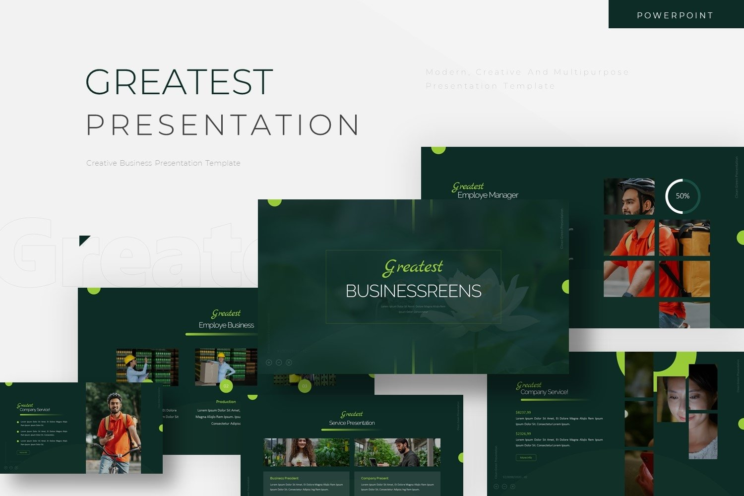 Greatest - Powerpoint Template example image 1