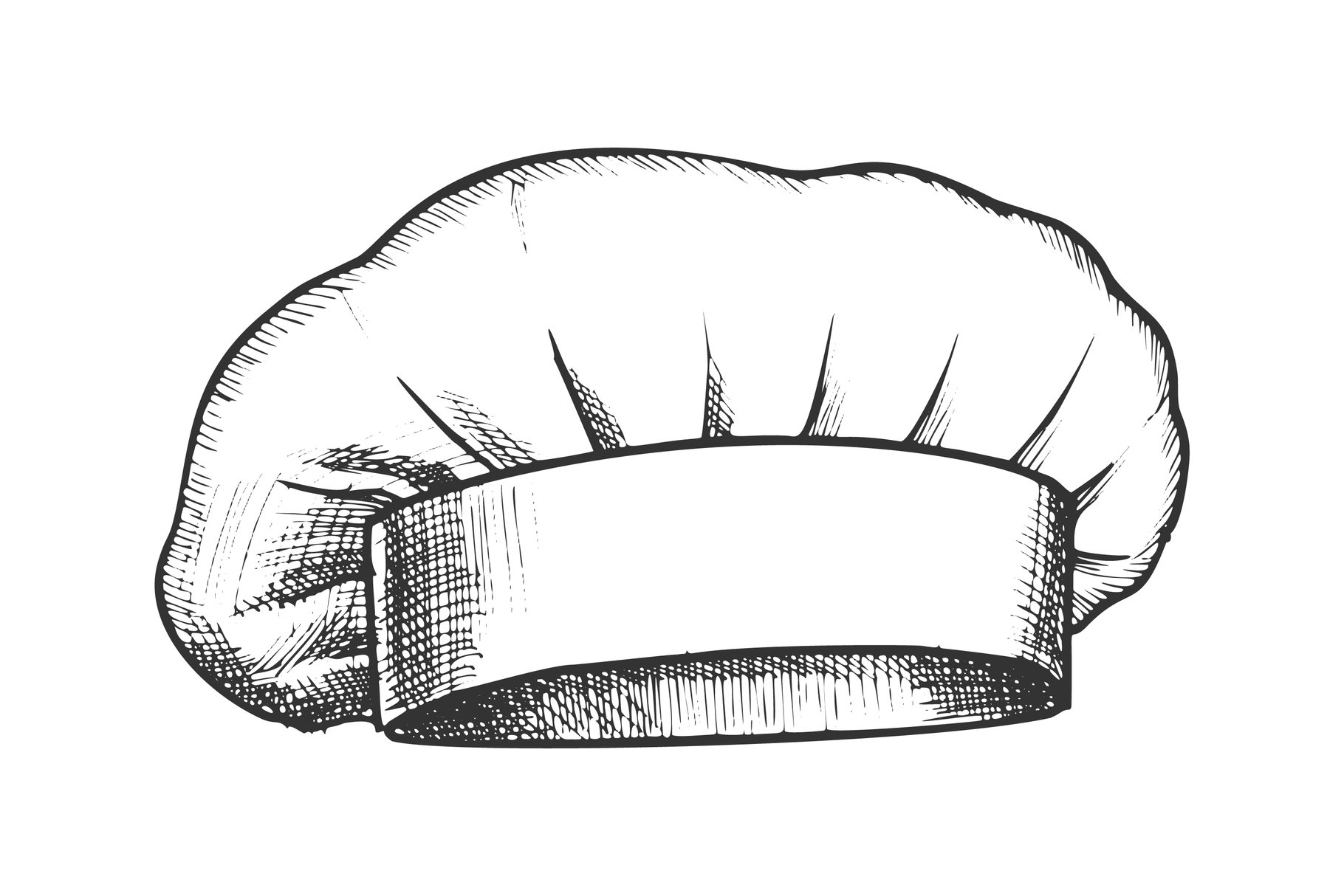 Chef Hat Professional Cooker Clothing Ink Vector example image 1