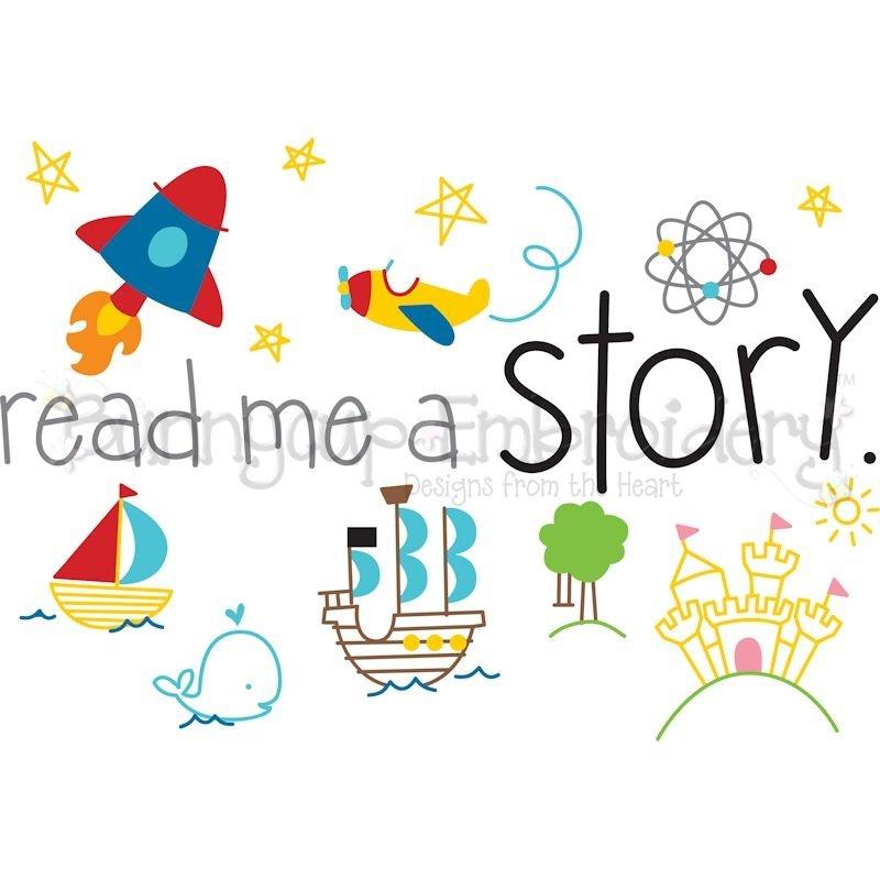 Read Me A Story Svg Clipart Printable 438569 Cut Files Design Bundles