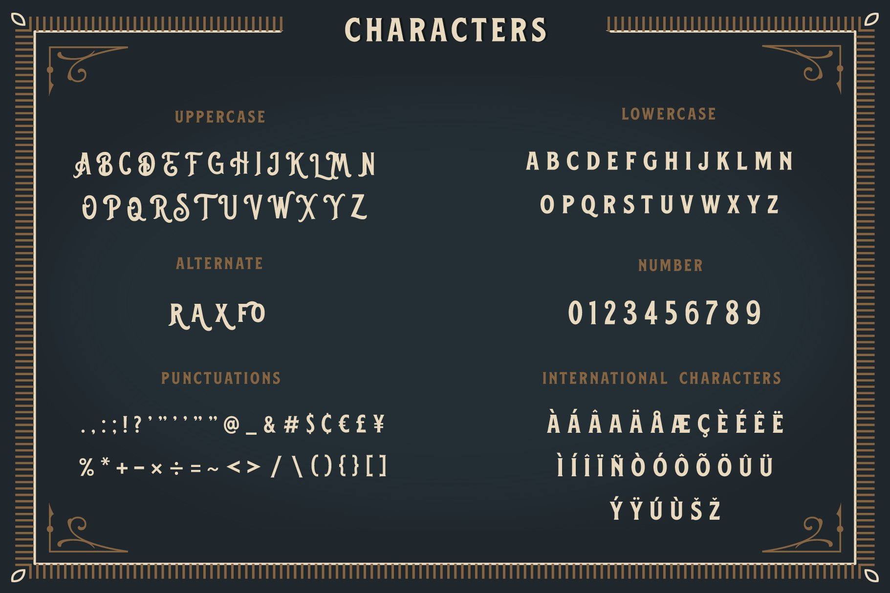 Blackford - Vintage Classic Font example image 5