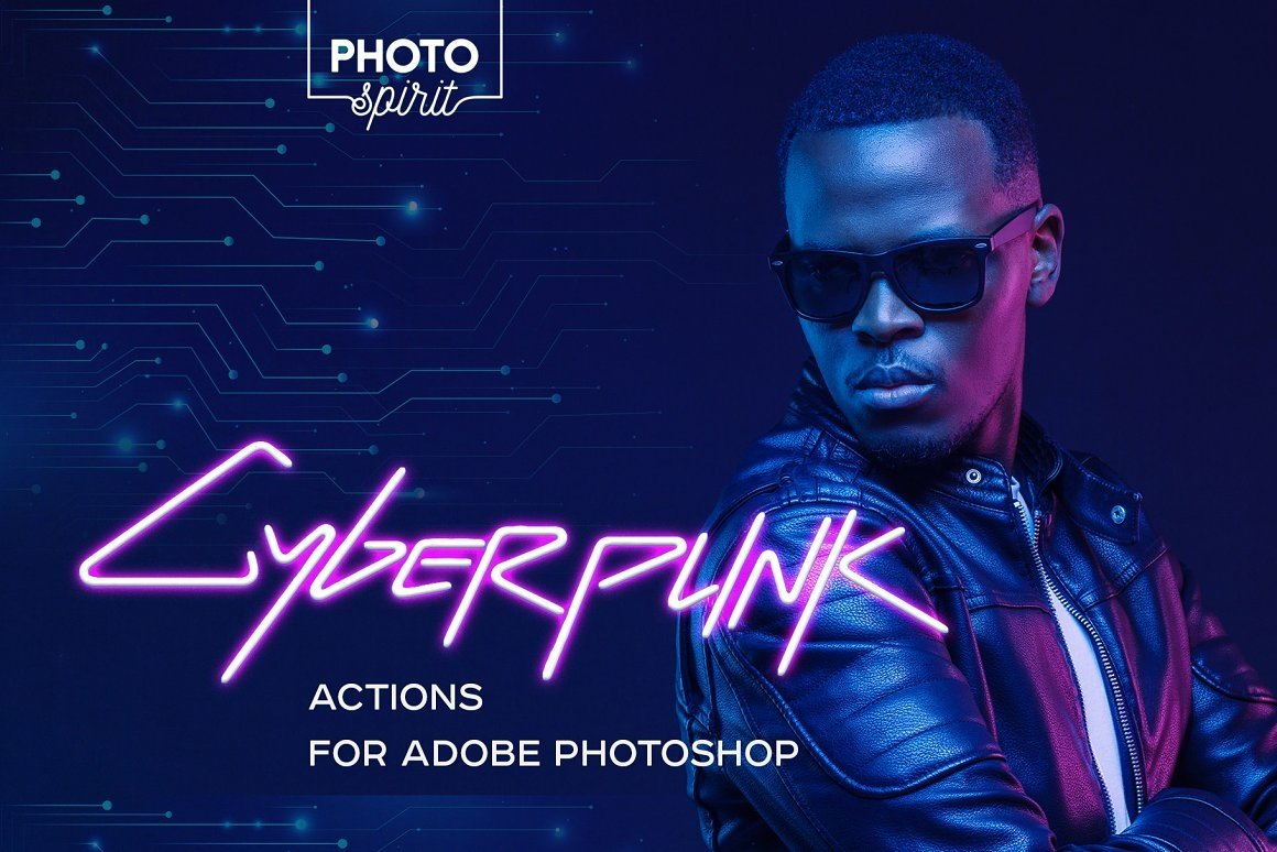 Cyberpunk Actions for Adobe Photoshop
