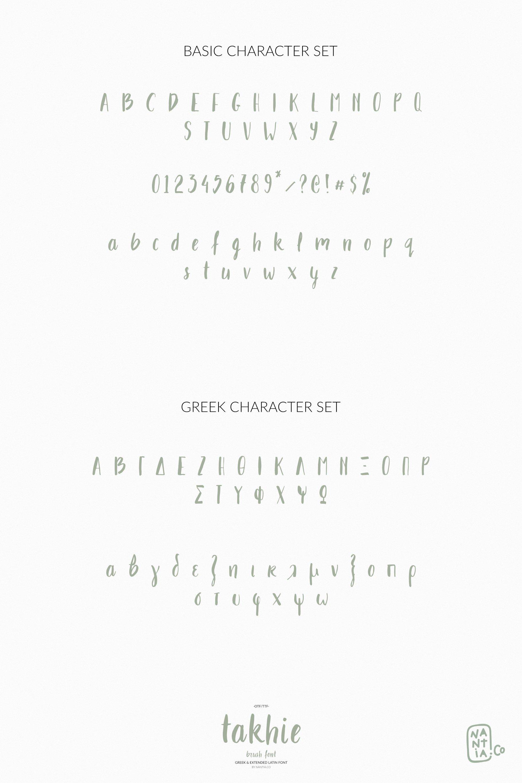 Takhie Pro | Multilingual Brush Font example image 3