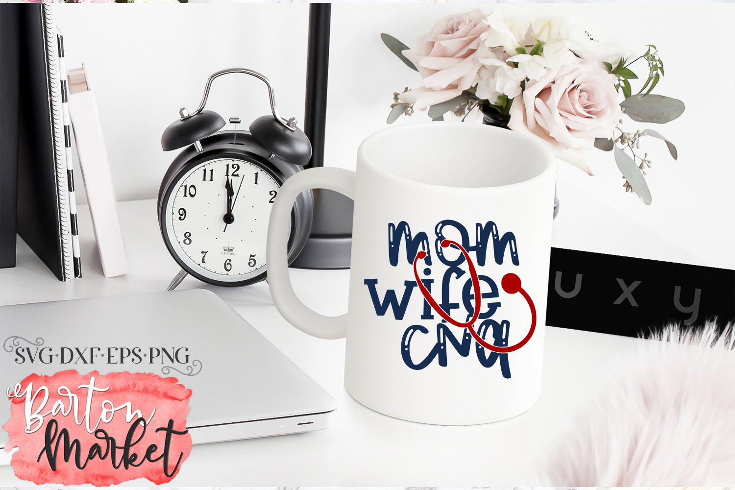 Mom Wife CNA SVG DXF EPS PNG example image 4