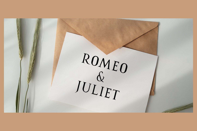Romanus romance serif example image 3