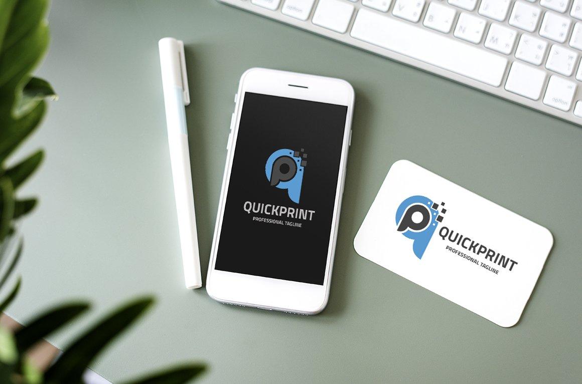 Quick Print Letter QP Logo example image 3
