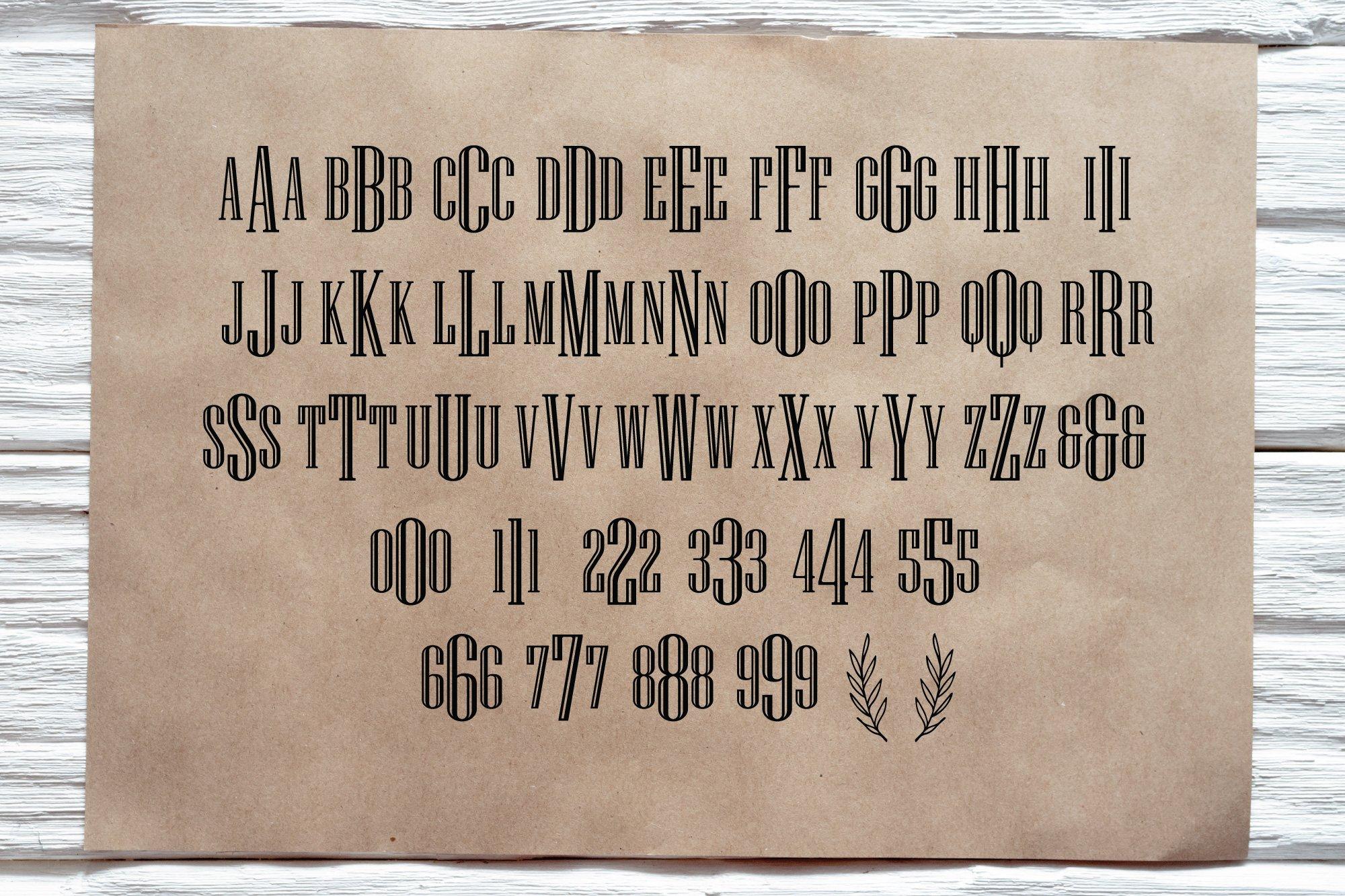 BIG Monogram Font Bundle | The Ultimate Bundle! example image 2