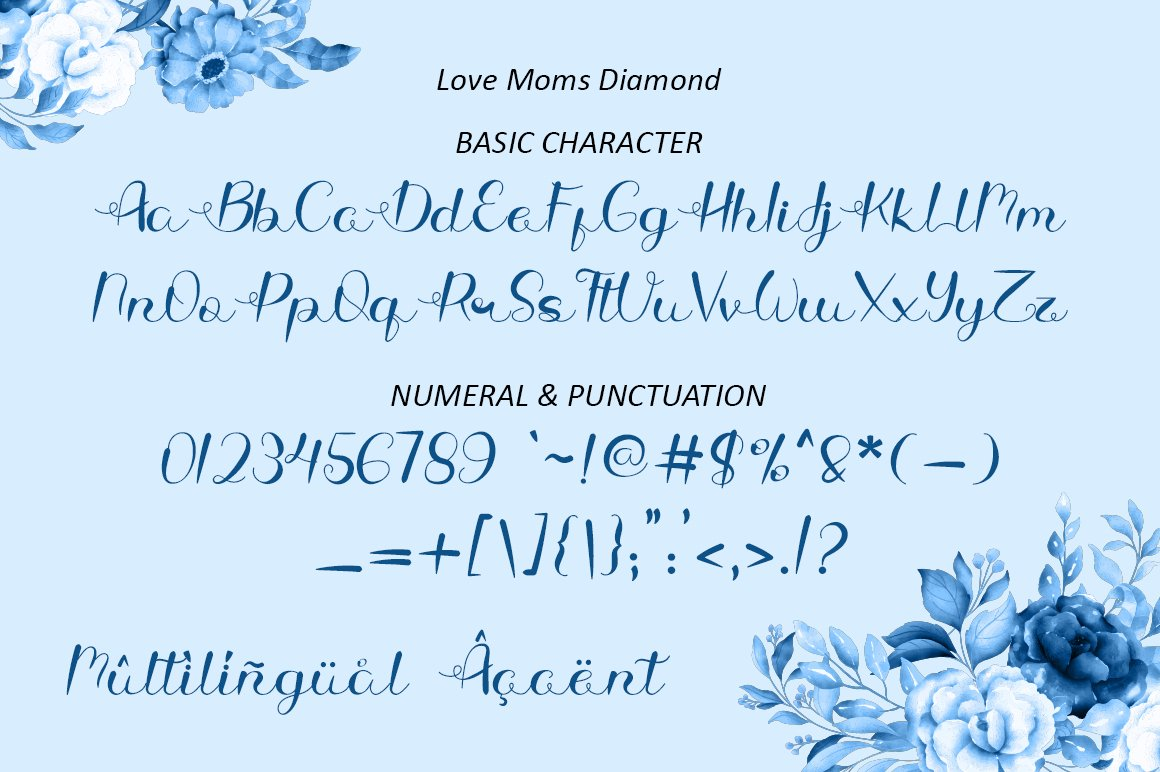 Love Moms Diamond - Modern Calligraphy for Mother's Day example image 8
