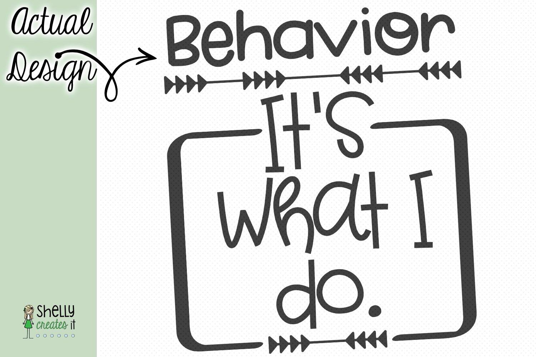 Behavior, It's what I do design example image 2
