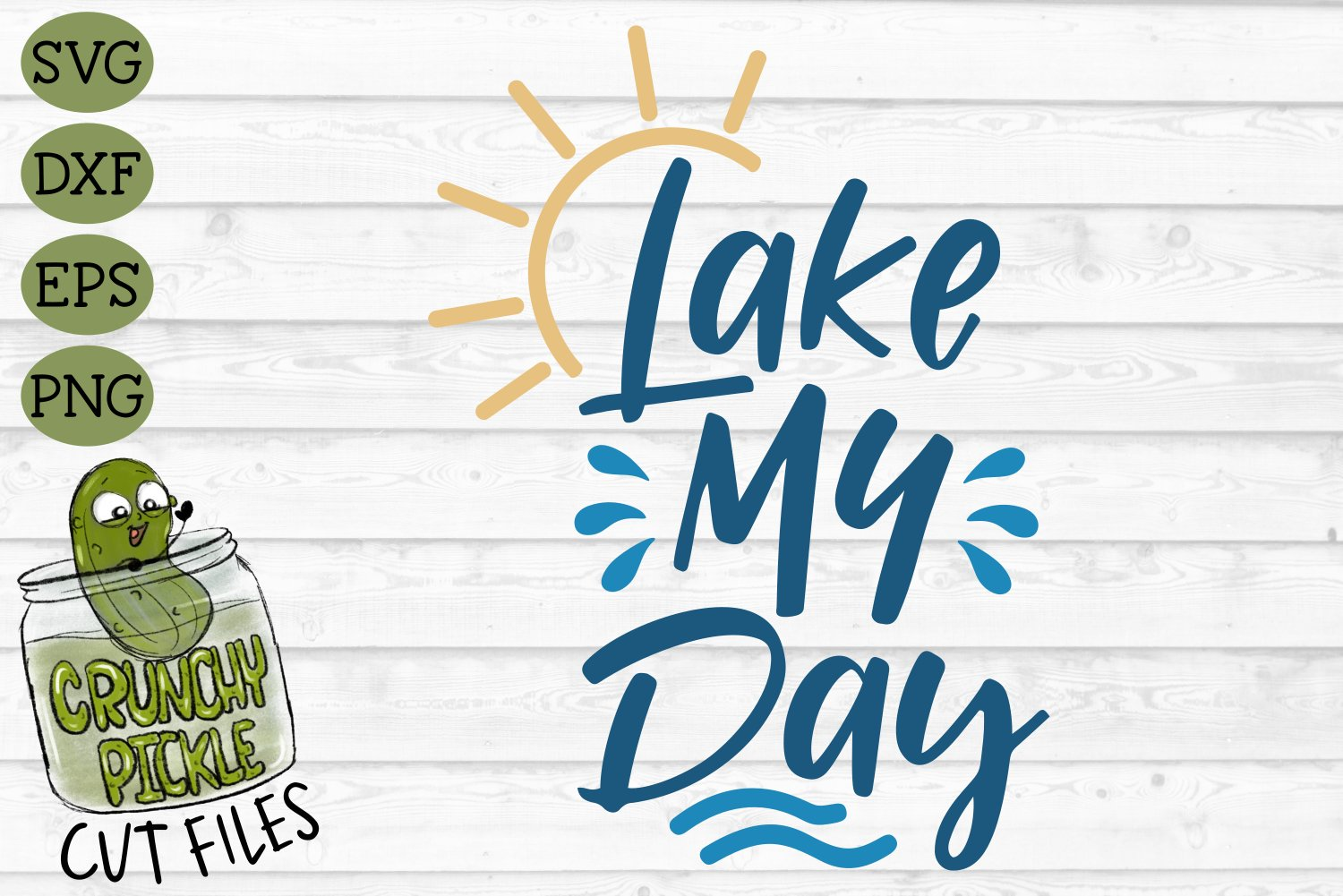 Lake My Day SVG Cut File example image 2