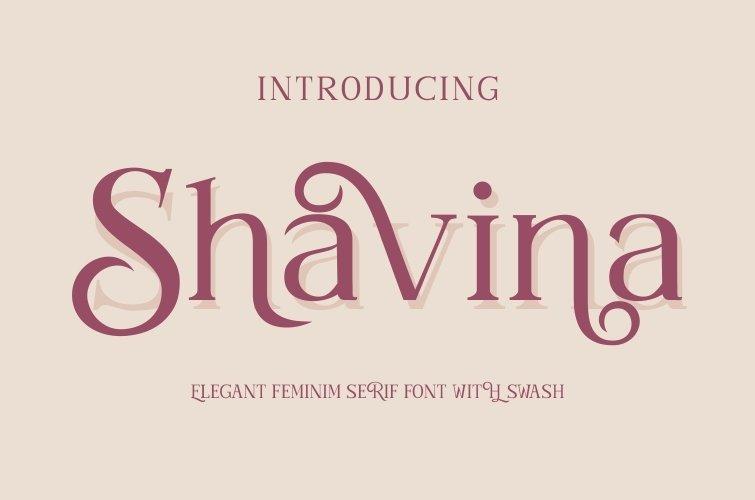 Shavina Serif Font with beauty swash and alternate example image 10