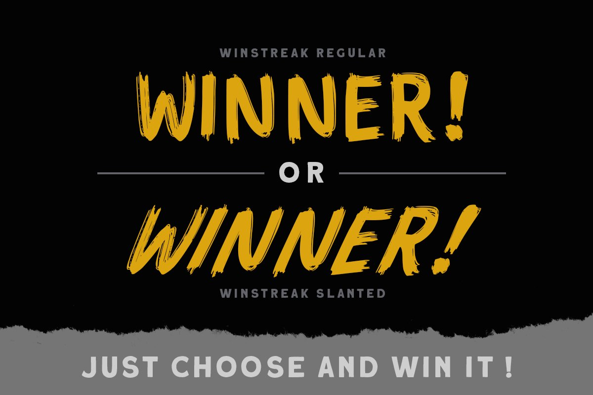 Winstreak - Brush Font example image 2