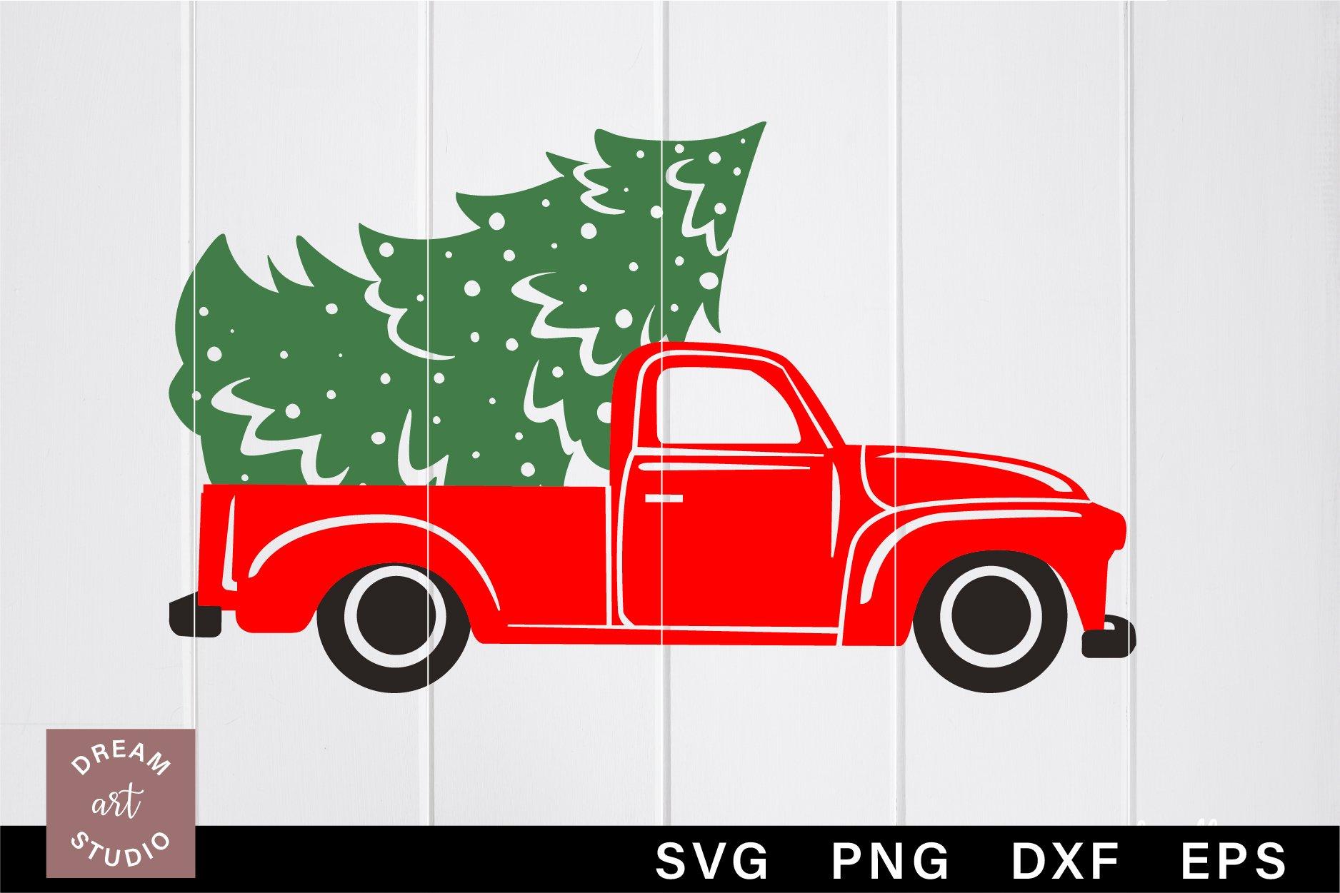 Christmas Truck Svg Png Old Red Truck Svg Vintage Truck Svg 1055905 Cut Files Design Bundles