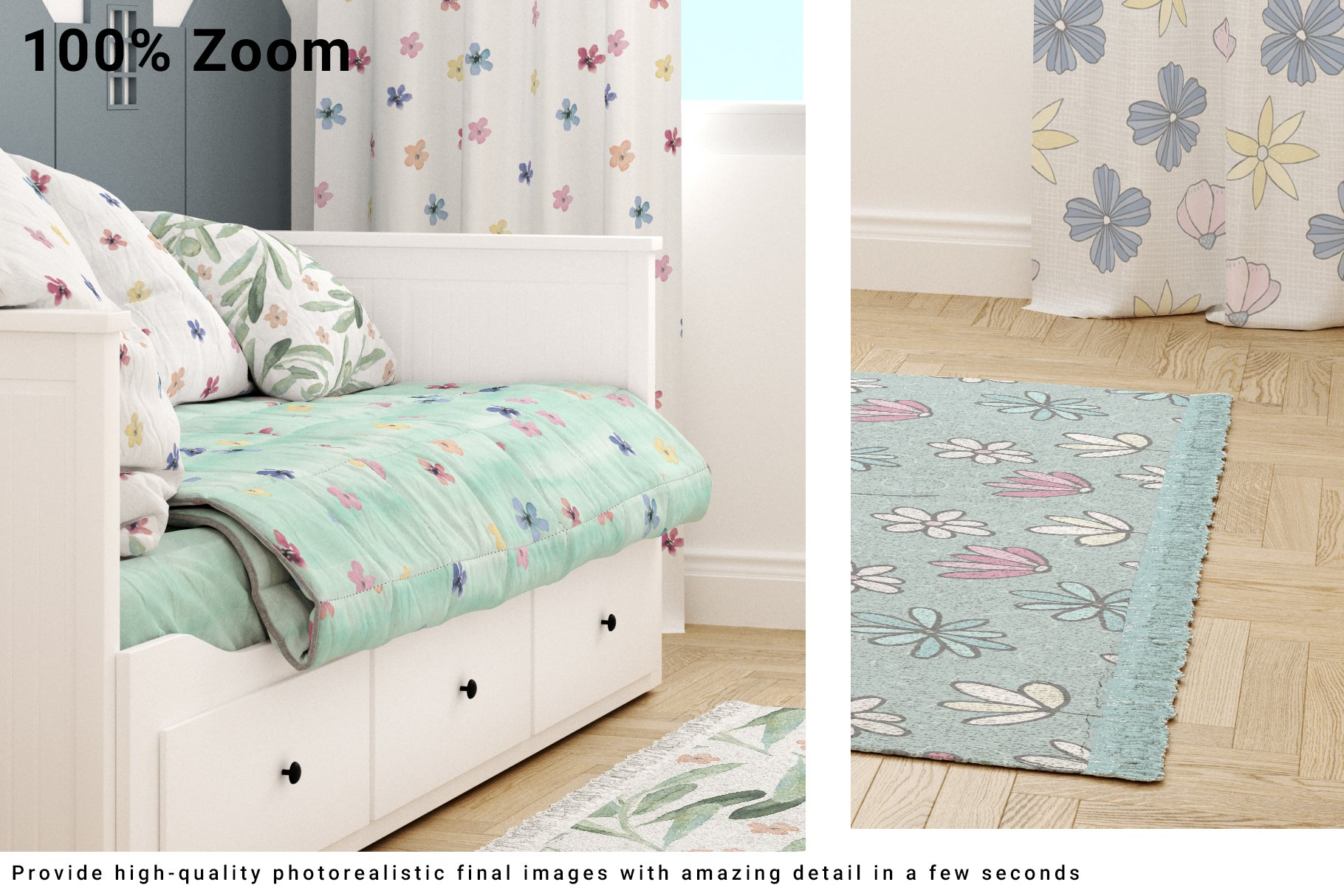 Toddlers Room Textile - Bedding, Curtains & Carpet Set example image 3