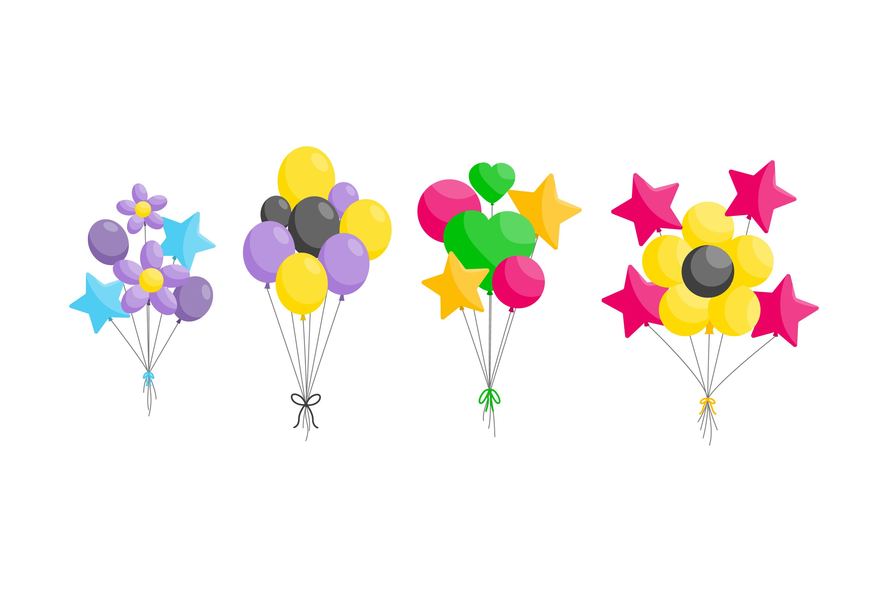 Birthday Balloons Illustrations example image 1
