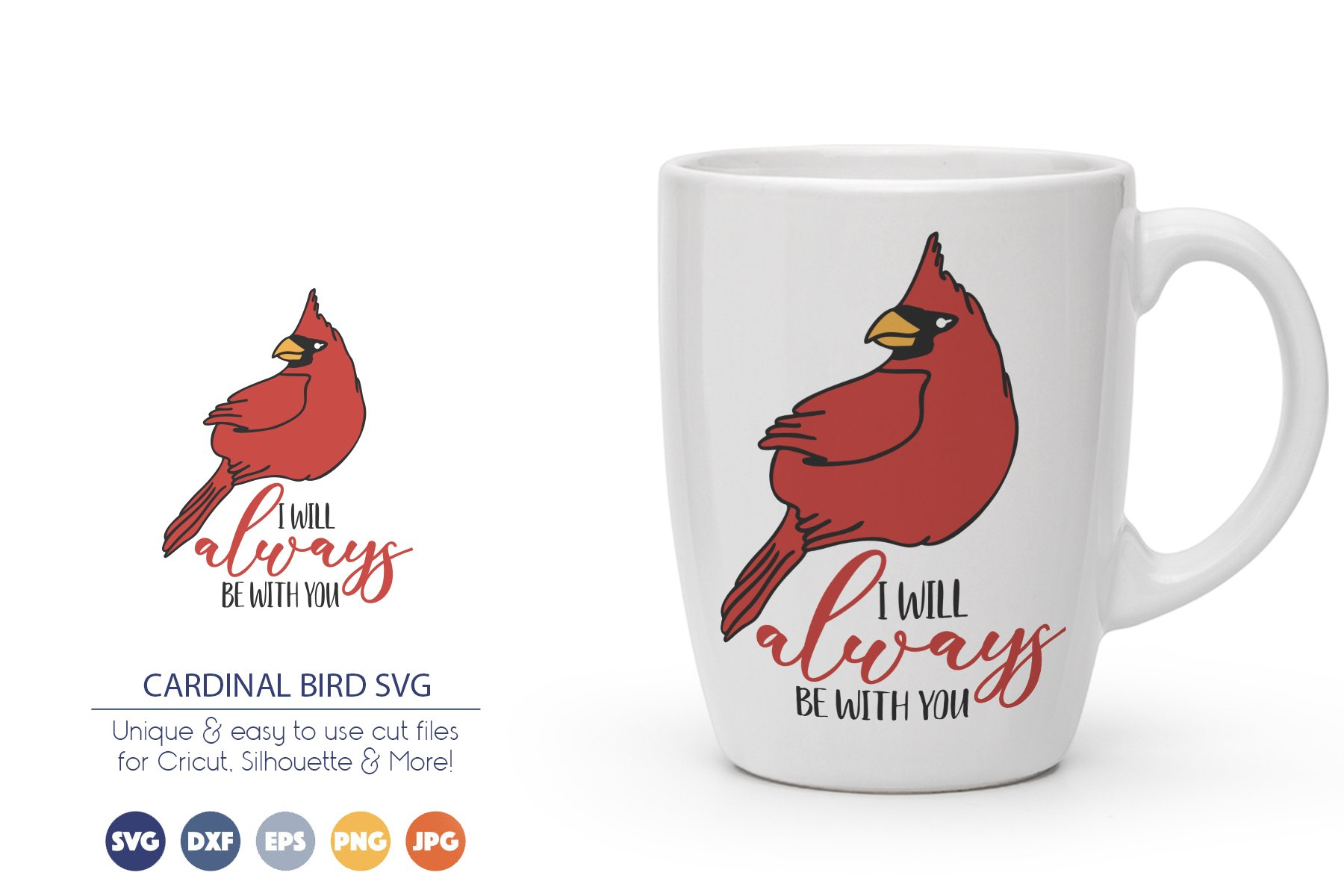 Cardinal Bird SVG | I Will Always Be with You example image 1