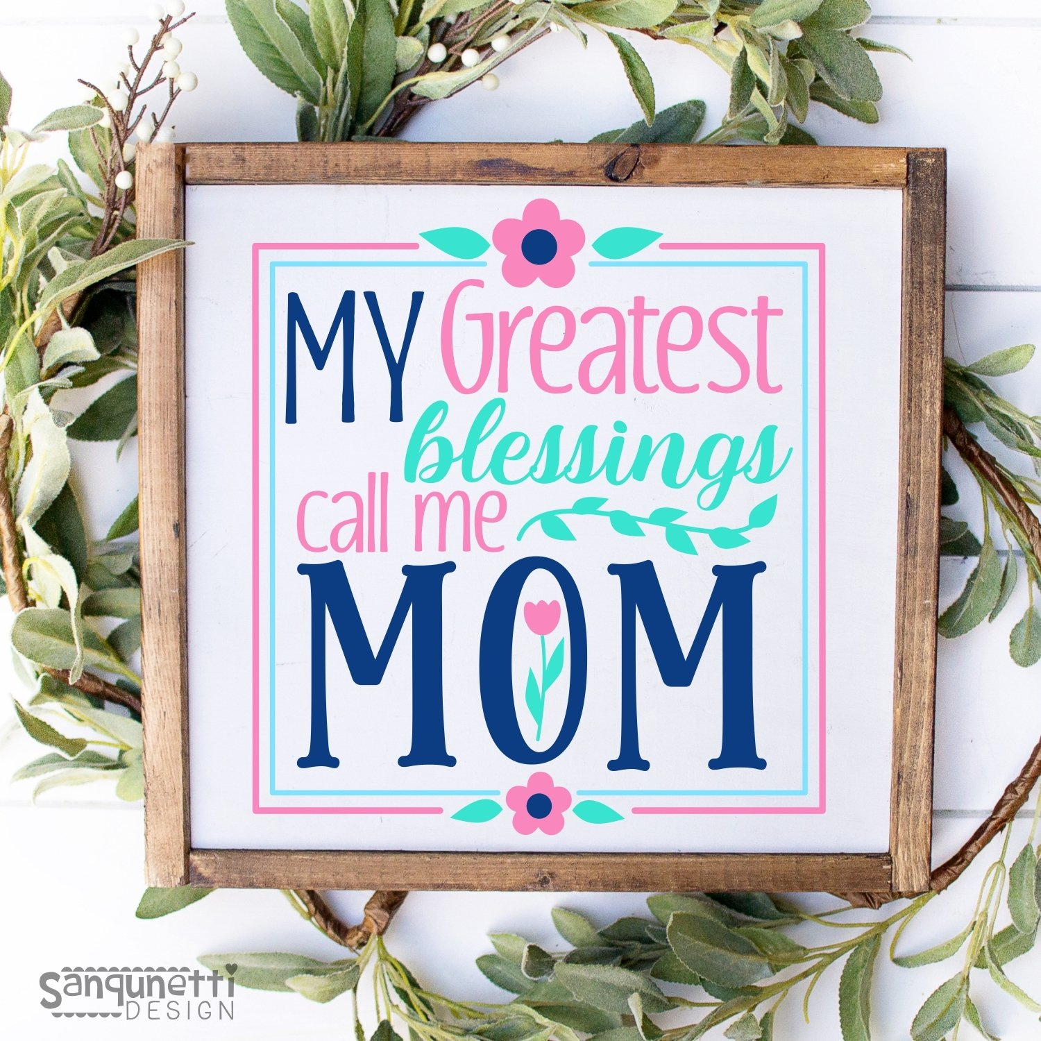 My greatest blessing call me mom SVG, mother cutting file example image 2