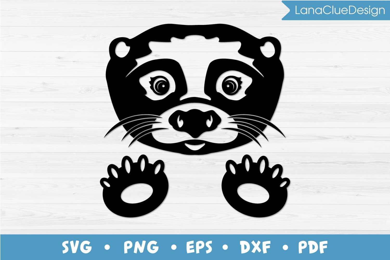 Otter SVG, Silhouette Cut File example image 1