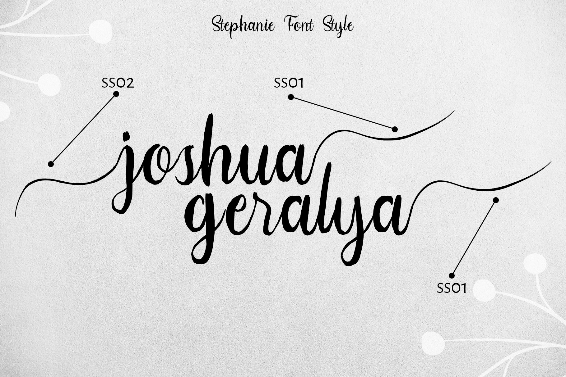 Stephanie Script Font example image 9