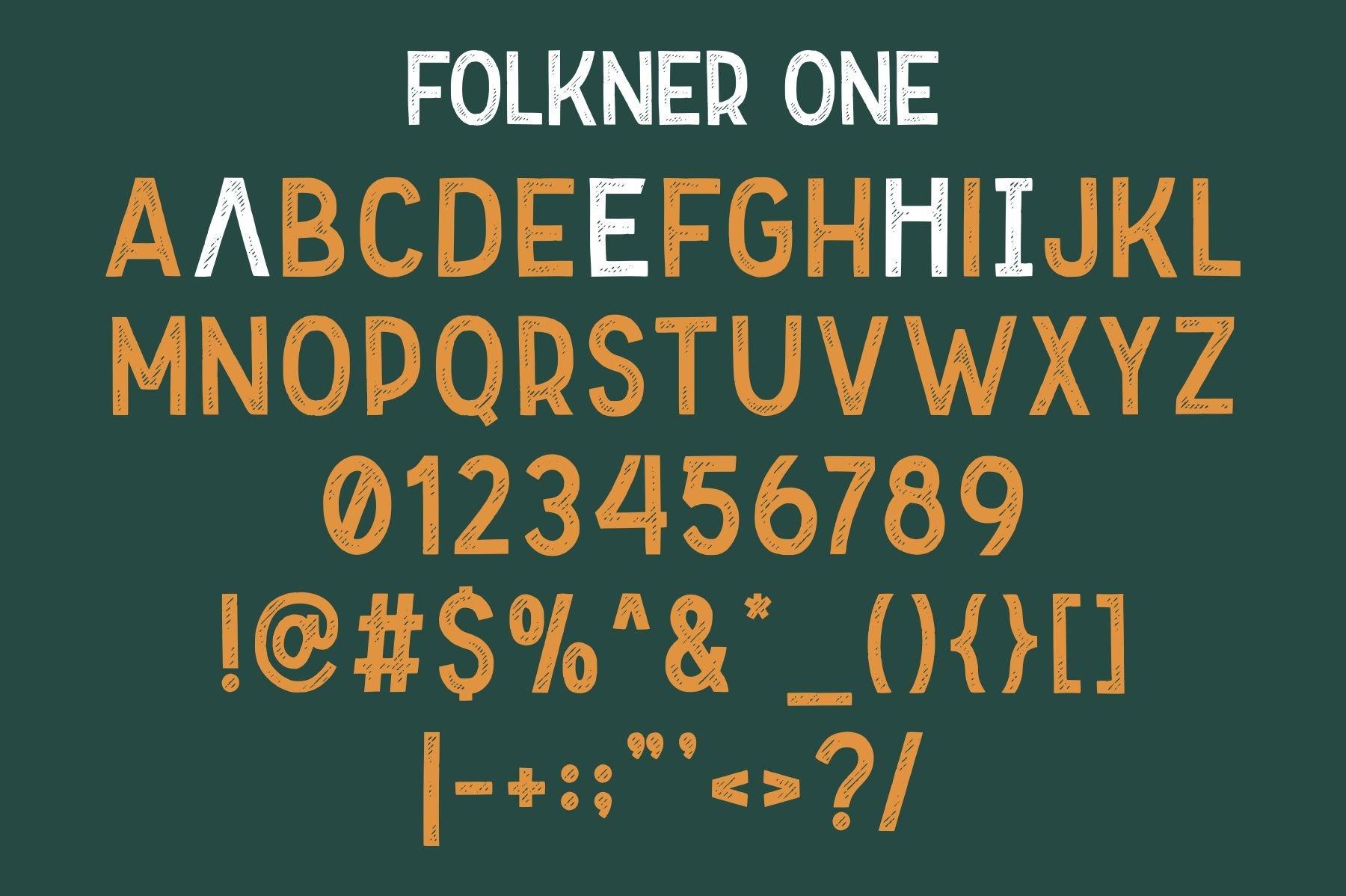 Folkner - Vintage Typeface example image 6