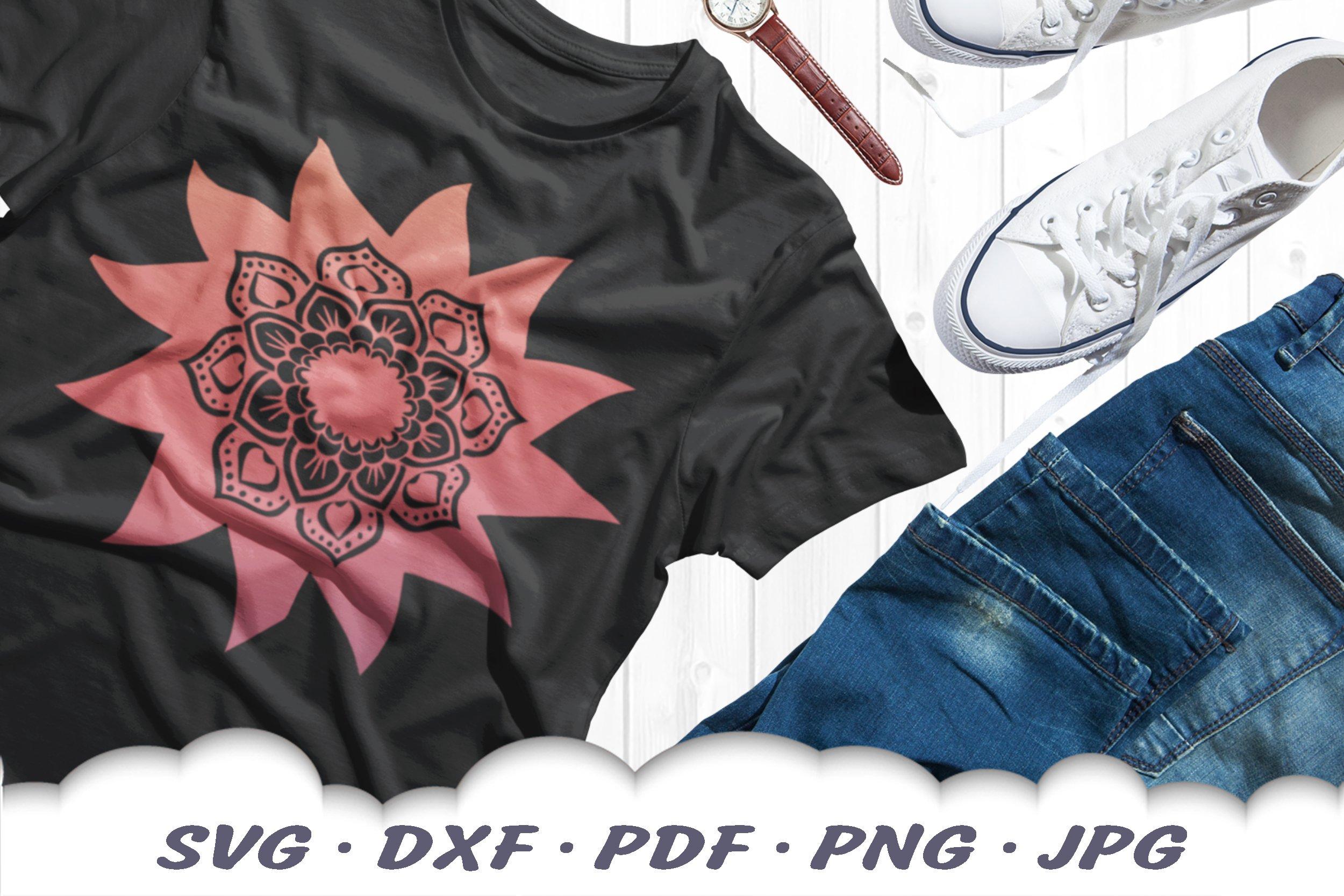 Sun & Moon Celestial Mandala SVG Bundle DXF Cut Files example image 4