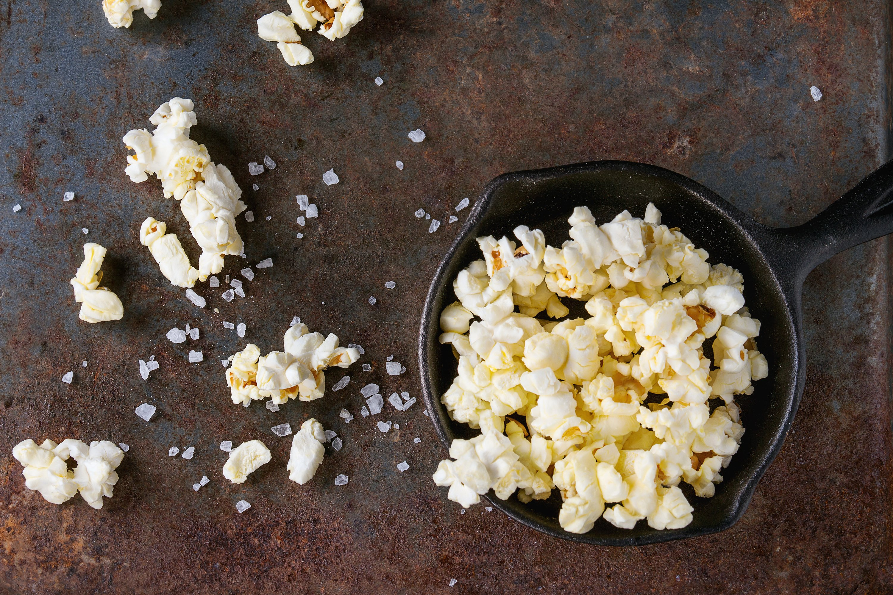 Prepared salted popcorn example image 1