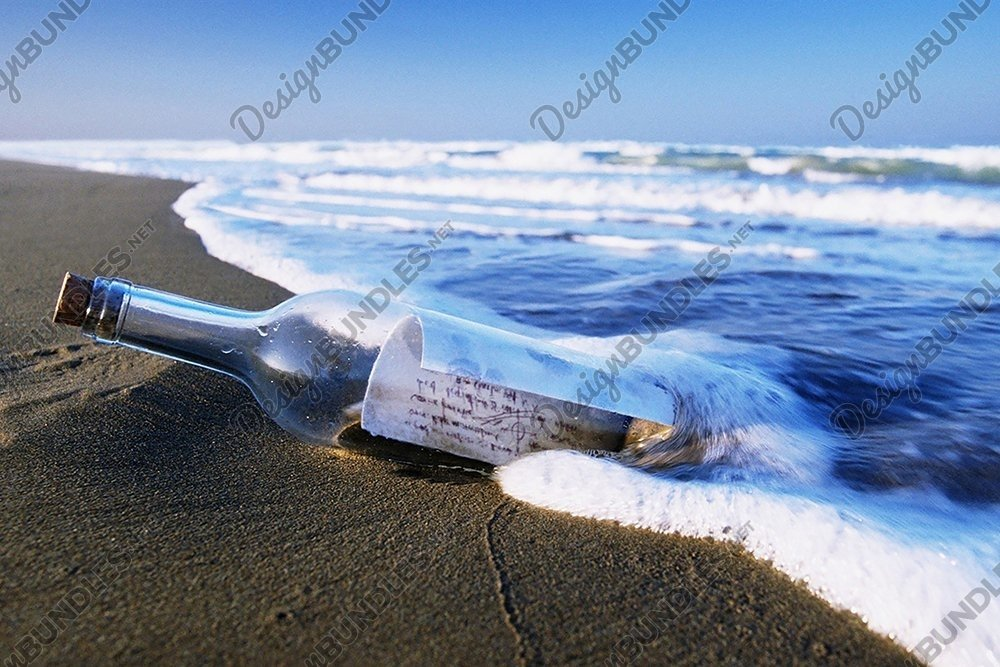 Stock Photo - View Of Waves In Sea Against Sky example image 3