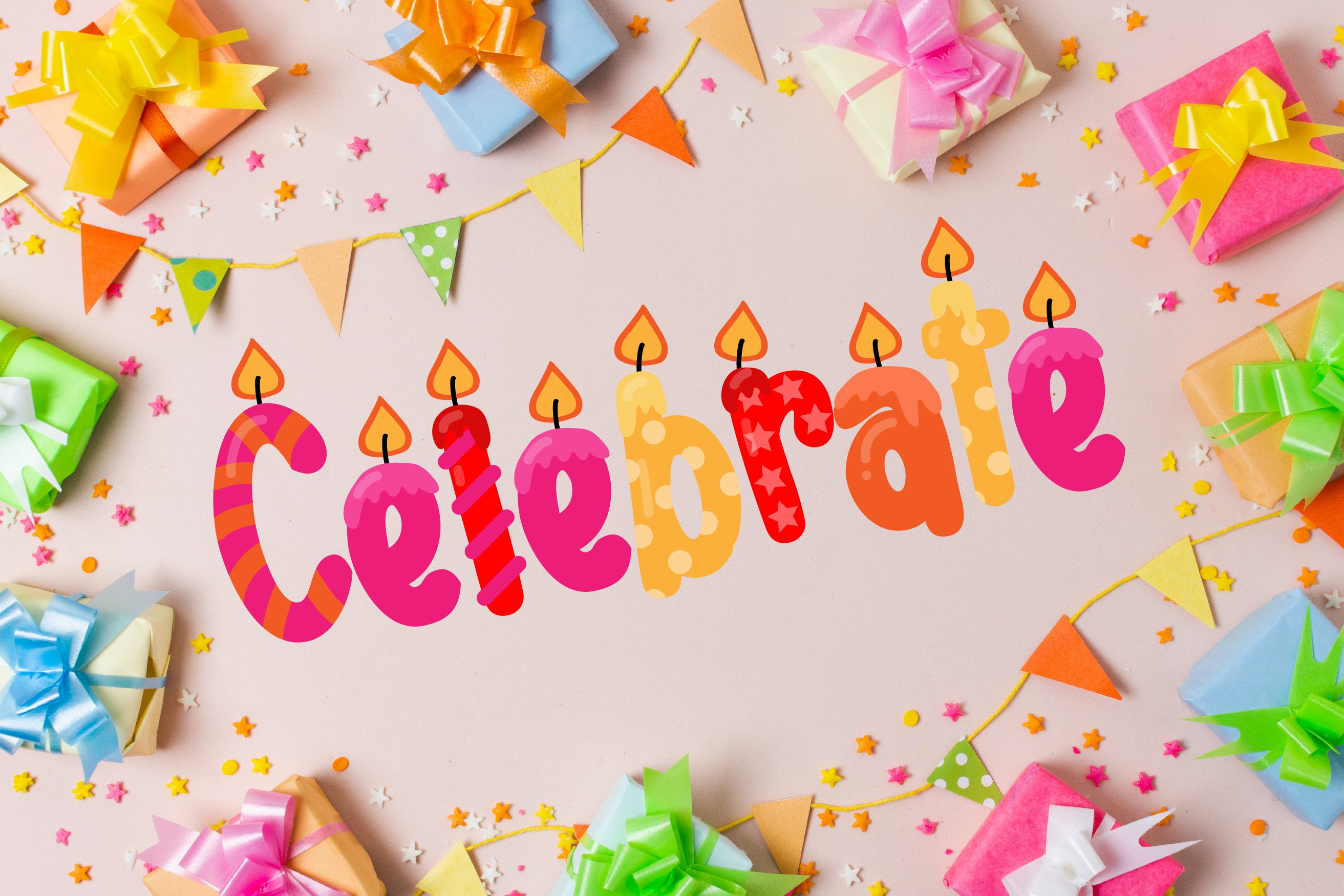 Birthday SVG Font Duo example image 10