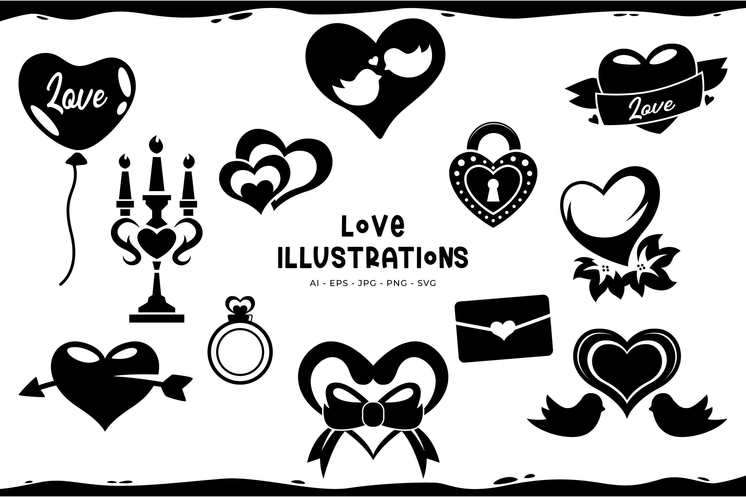 Love Illustrations example image 1