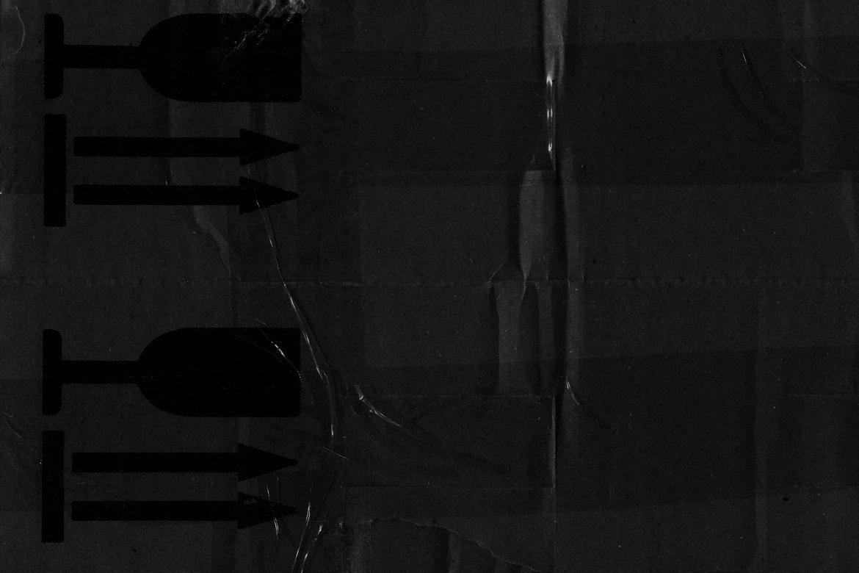 Black Cardboard Textures 2 example image 3