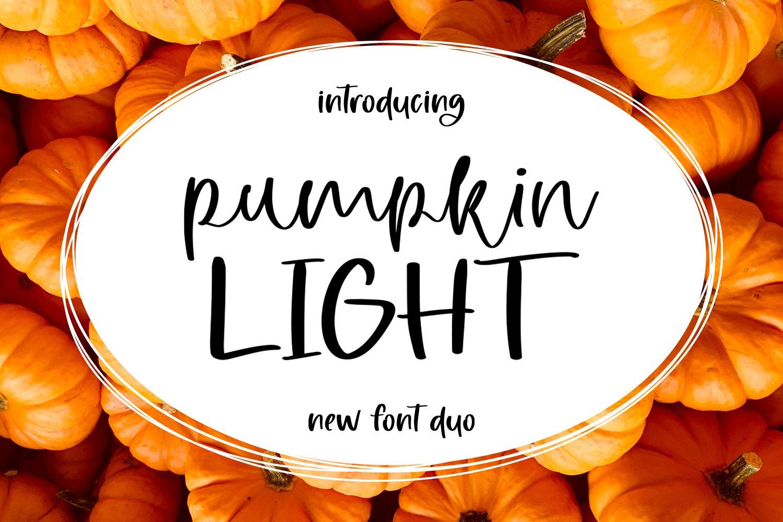 Pumpkin Light Font Duo example image 1
