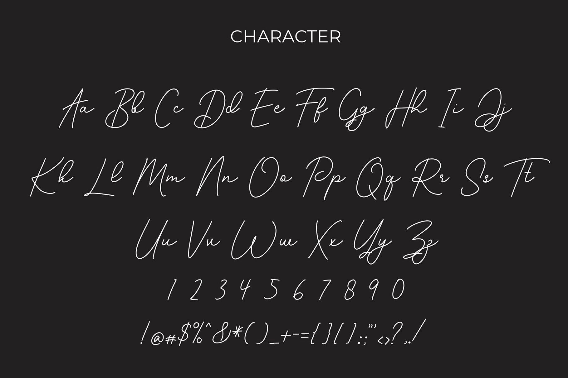 Roshayati Modern Calligraphy Font example image 6