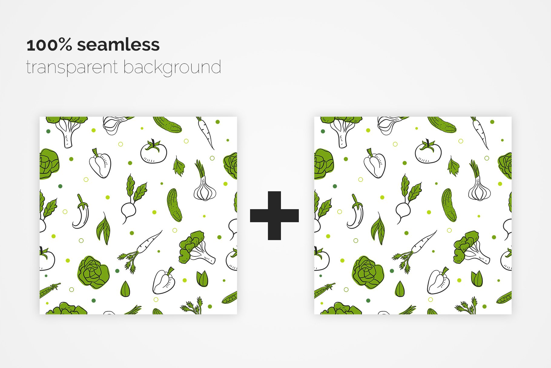 Vegetables Seamless Patterns example image 2