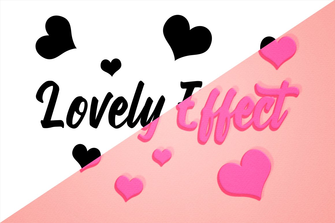 Lovely Text Effect for Photoshop example image 2