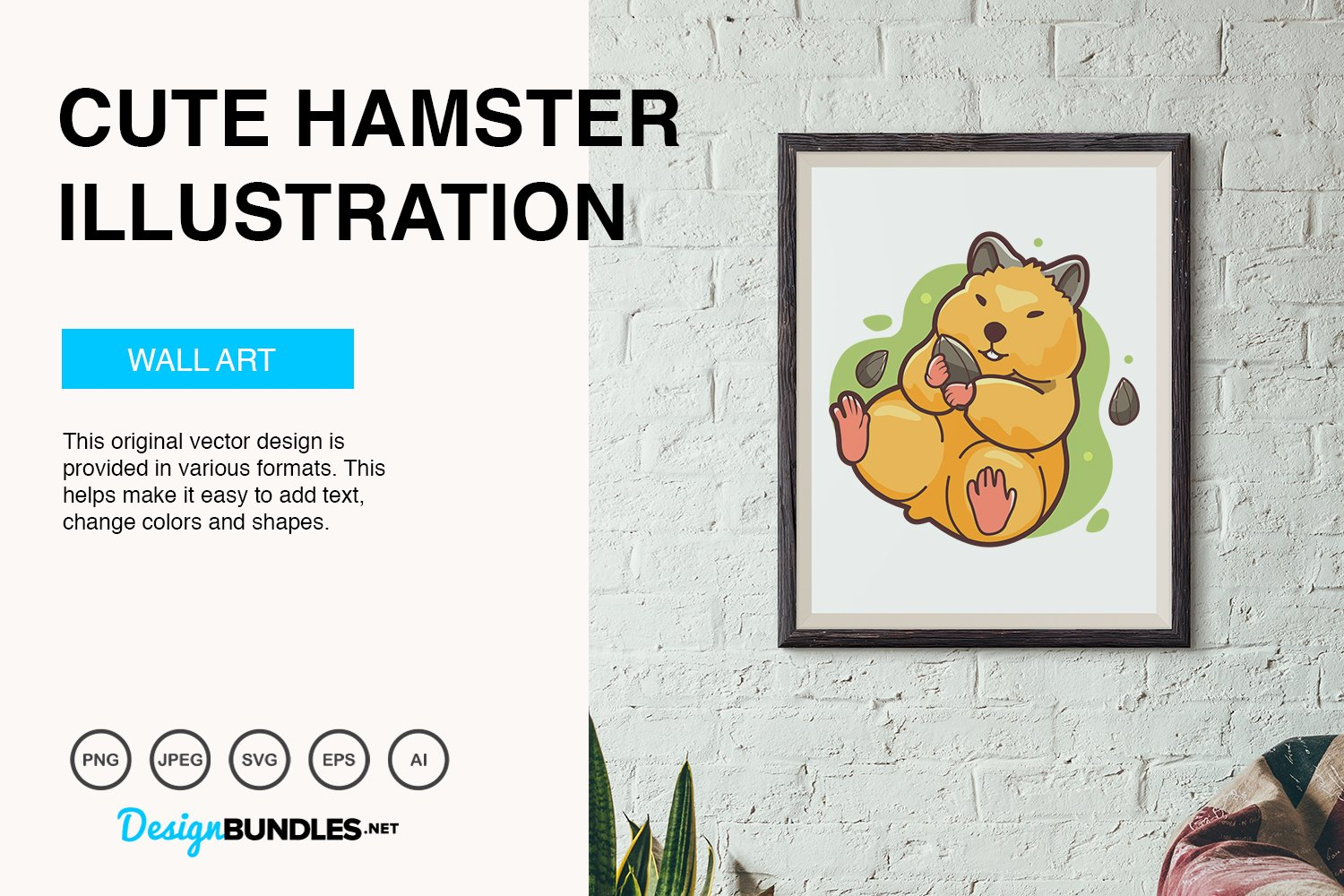 Cute Hamster Vector Illustration example image 3