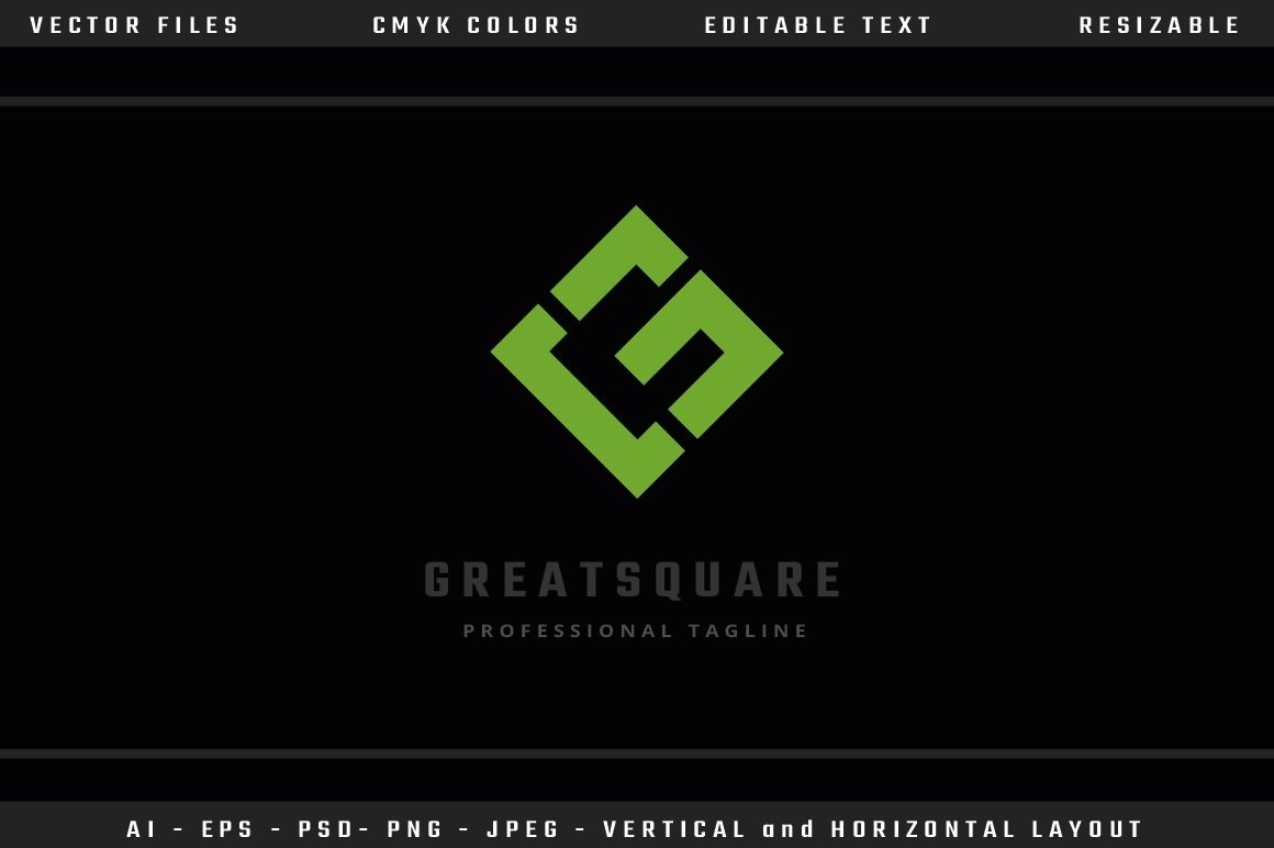 Great Square Letter G Logo example image 1
