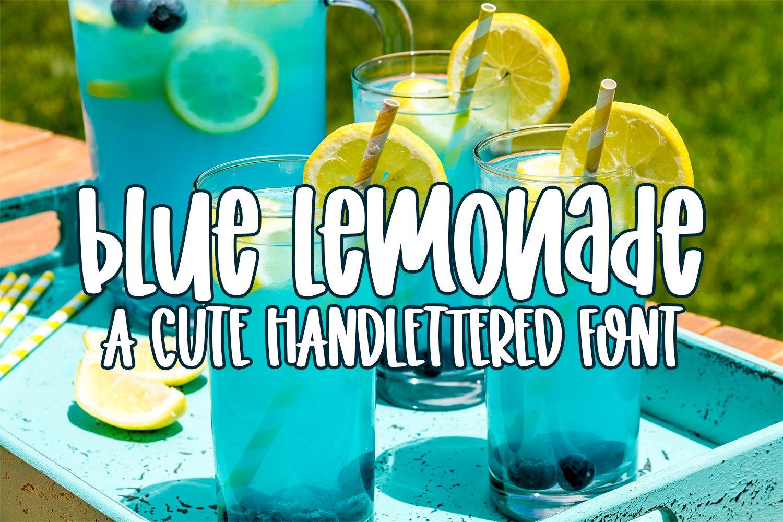 Blue Lemonade - A Cute Hand-lettered Font example image 1