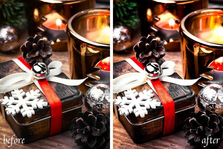 Moody Christmas Mobile & Desktop Lightroom Presets example image 3