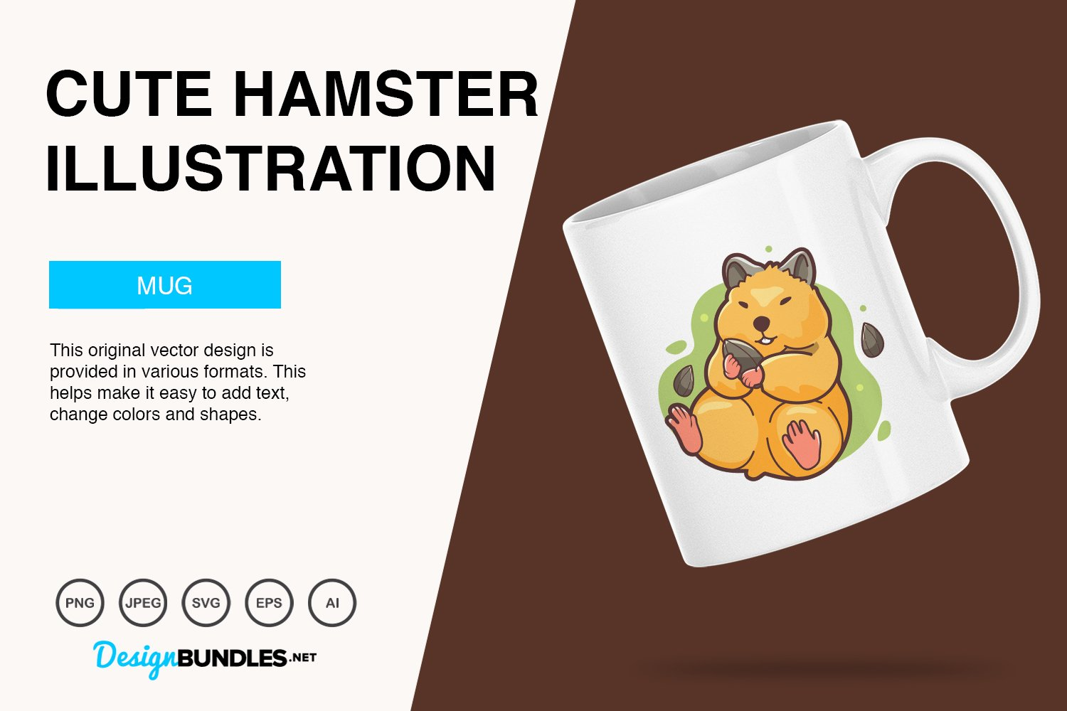 Cute Hamster Vector Illustration example image 2