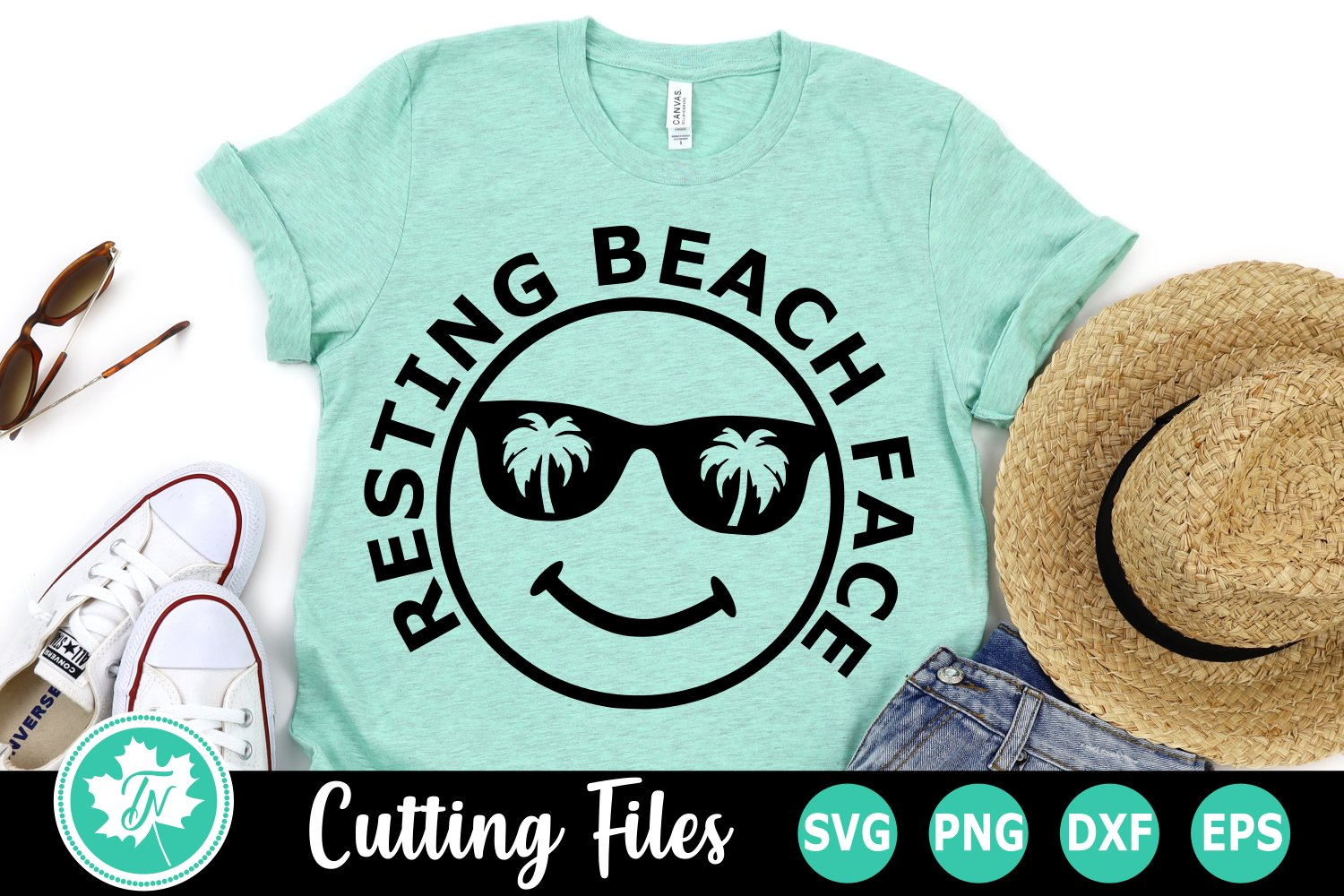 19+ Resting Beach Face Svg, Beach Svg, Summer Svg, Cuttable File SVG