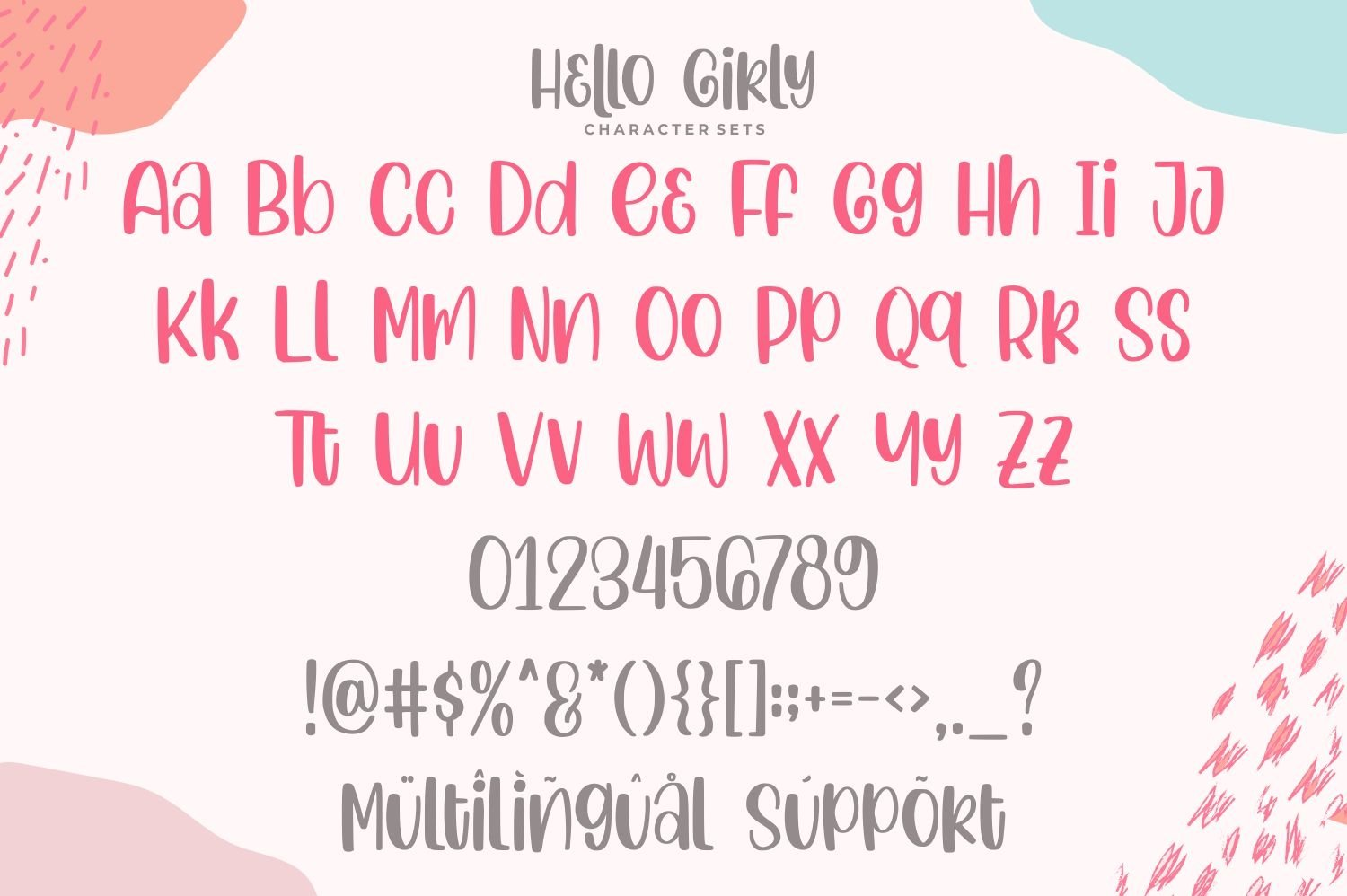 Hello Girly - a Girly Handdrawn Font example image 10