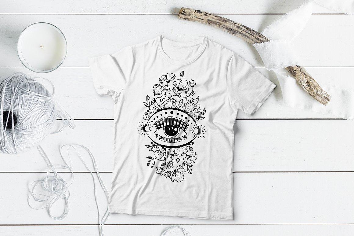 Boho illustration | Mystical Line art example image 3