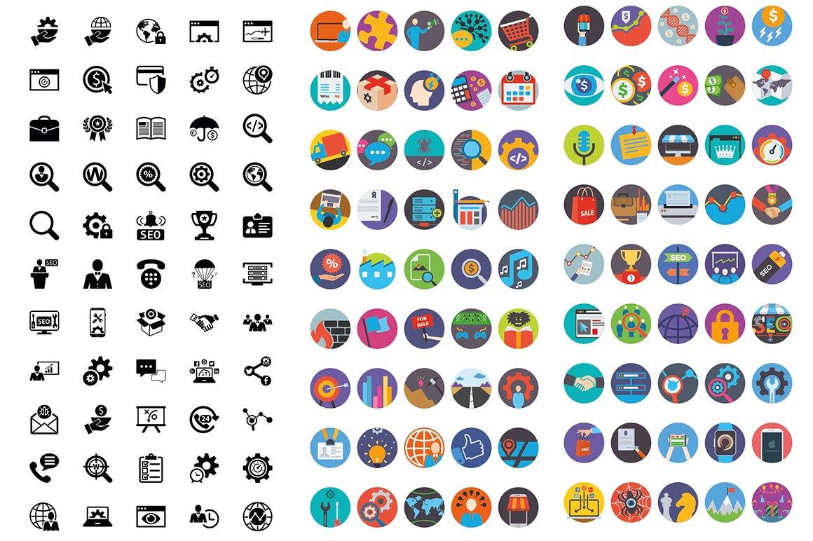 1000 Ultra Big Bundle Infographics Elements example image 13