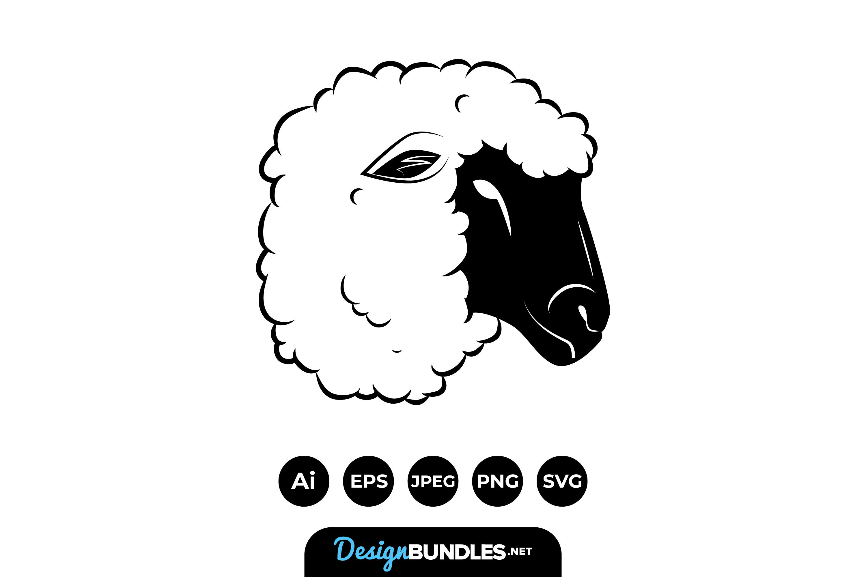 Sheep Heads Illustrations example image 1