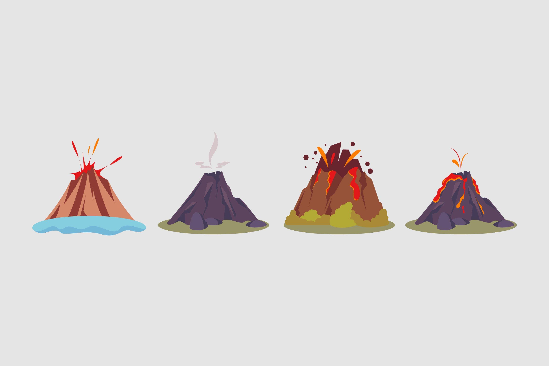 Volcano Illustrations example image 1