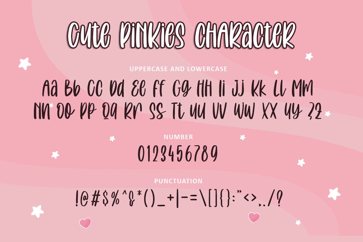 Cute Pinkies | Quirky Font example image 3